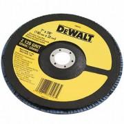 "Disco Flap 7"" Dewalt Costado Fibra Angular DW8321 G120"