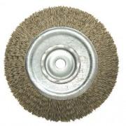 """Escova de Aço Circular JN 6"""" x 3/4"""" x 5/8"""""""