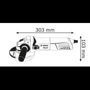 """Esmerilhadeira 5"""" 1.100w Bosch GWS 11-125"""