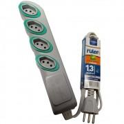 Extensão Elétrica Ruler 2P T 4 Tomadas 1,3m Cinza Daneva
