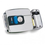 Fechadura Elétrica Dupla Inox C-90 com botão HDL