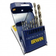 Jogo de Broca Aço Rápido 2 a 8mm 9 peças Irwin