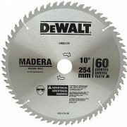 "Lâmina de Serra Esquadria Madeira 10"" 60 Dentes Dewalt DW03120"