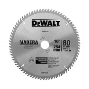 "Lâmina de Serra Esquadria Madeira 10"" 80 Dentes Dewalt DW03130"