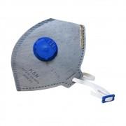 Máscara Descartável Carvão Ativado com Válvula PFF2 VO KSN