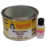 Massa Adesiva Plástica Cinza Ibere 400 g