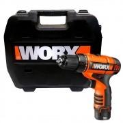 """Parafusadeira e Furadeira a Bateria 3/8"""" 12v Worx WX125"""