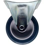 Rodizio PVC Cinza Placa Fixa Schioppa 4 Pol FL 412 BP 65 Kg