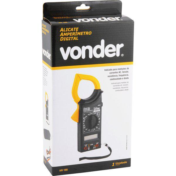 Alicate Amperímetro Digital Vonder AAV 1000