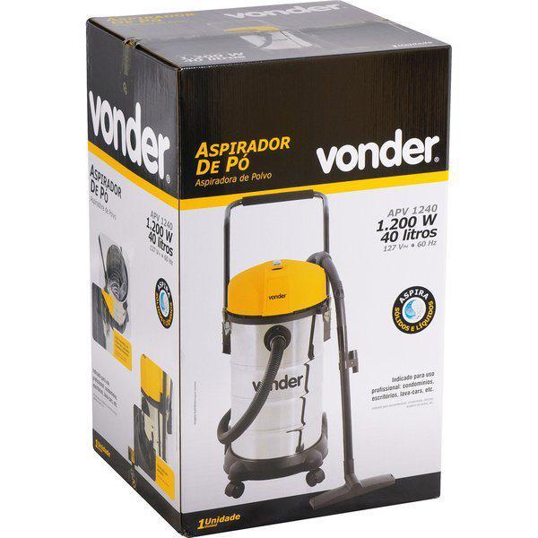 Aspirador de Pó e Líquido 1200w Vonder APV 1240