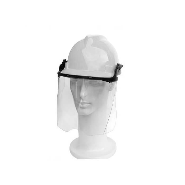 Capacete Acoplado Protetor Facial Incolor Ledan 958C Branco