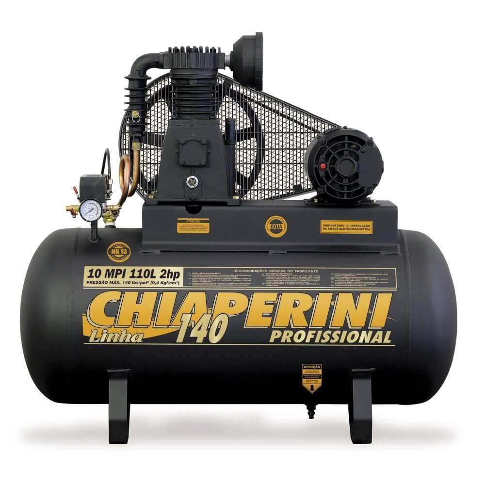 Compressor Ar 10MPI 110L 2HP Trifásico Chiaperini RCH