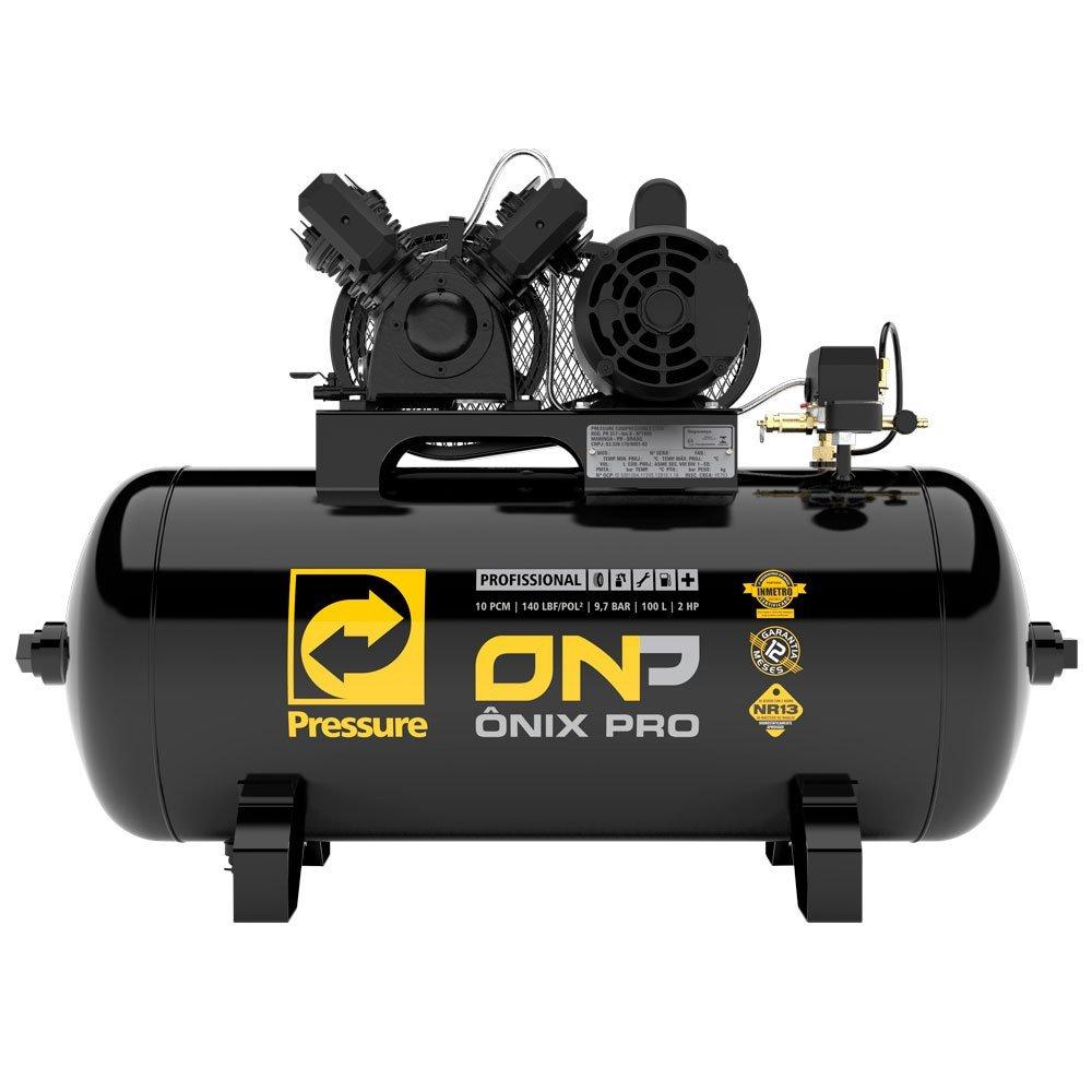 Compressor de Ar Ônix Pro 10 Pés 2 hp Mono 100 Litros 2P