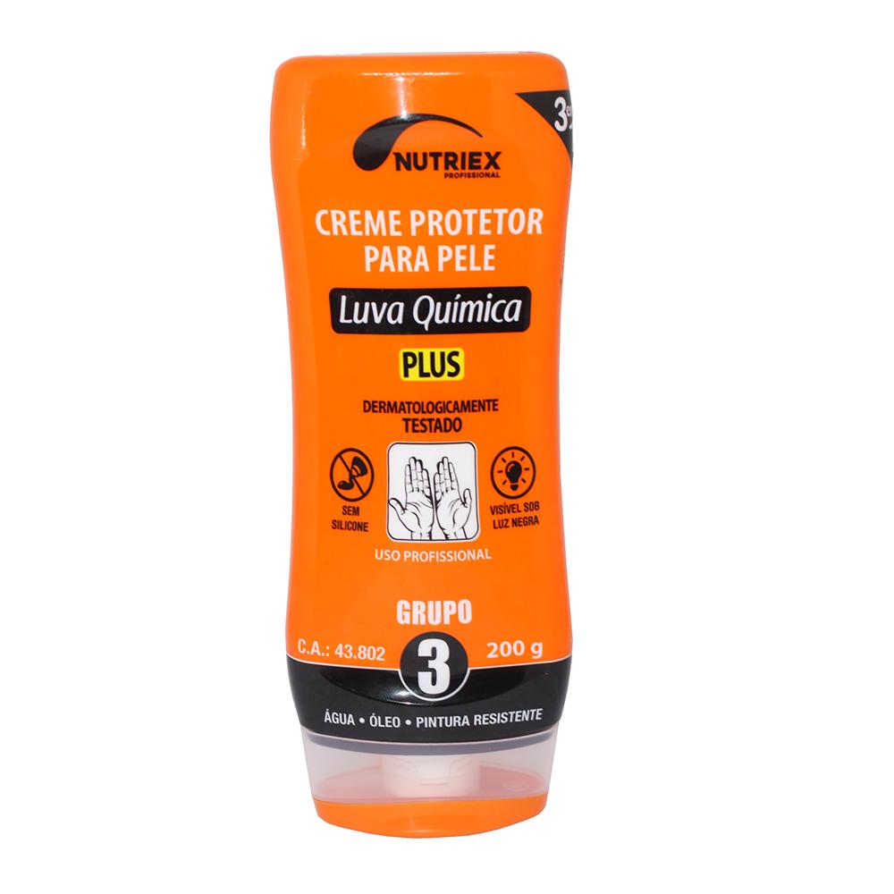 Creme Protetor para Pele Luva Química PLUS 3 em 1 Nutriex 200g
