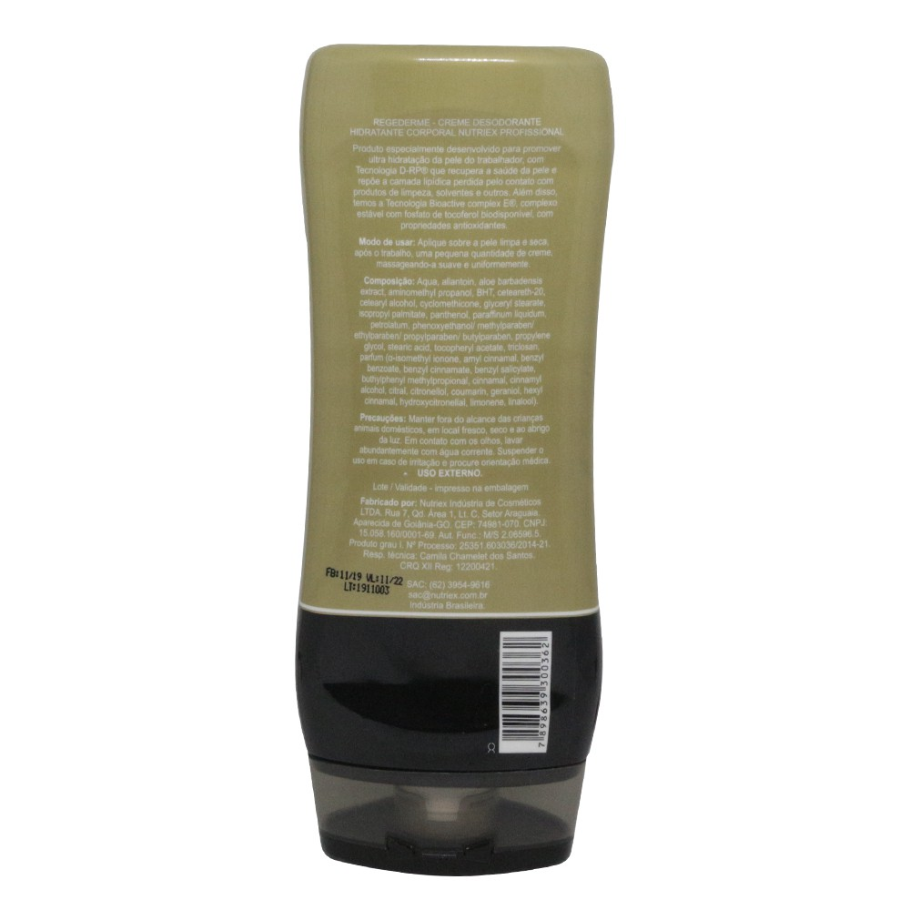 Creme Ultra Hidratação e Recuperação Regederme G3 Nutriex 200g