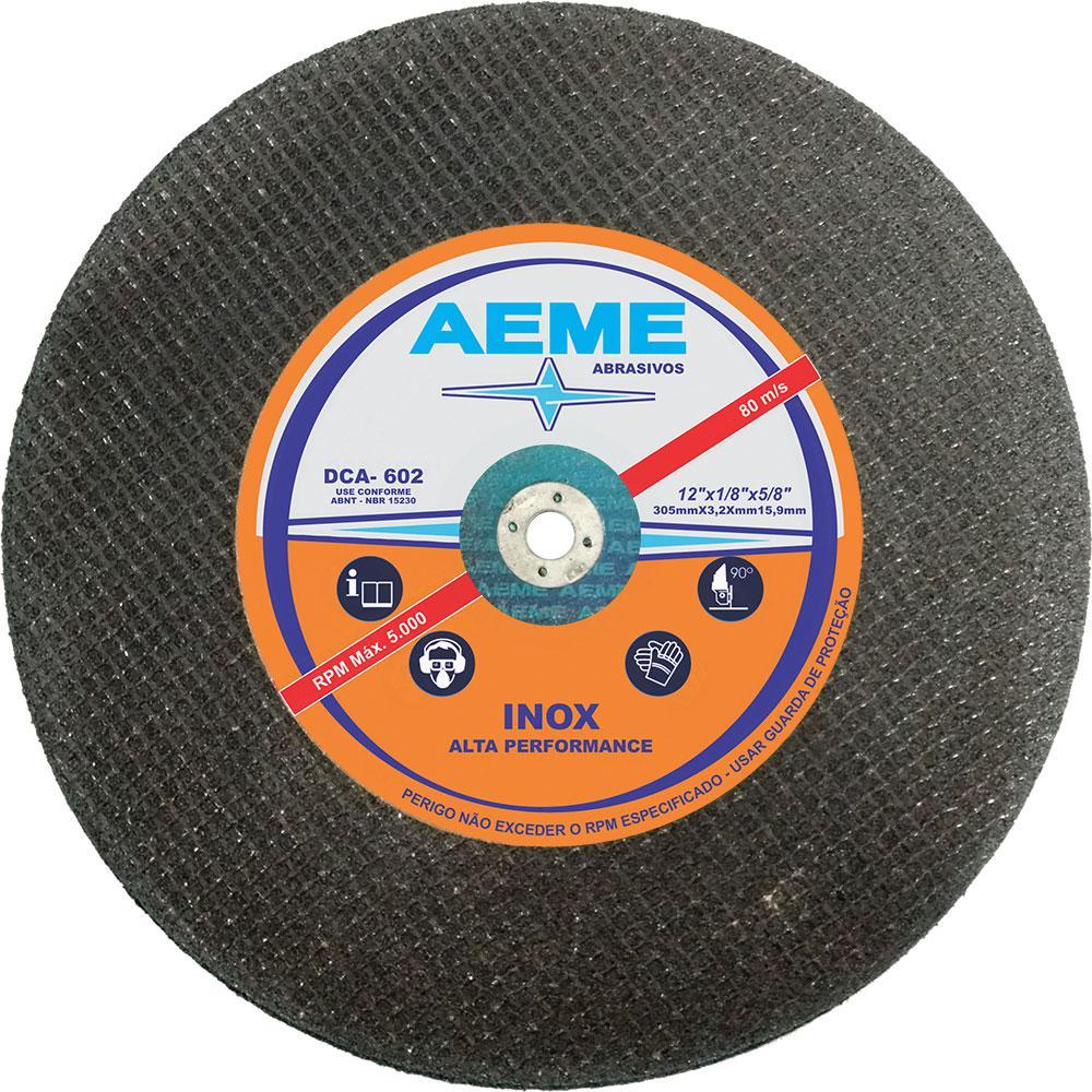 Disco de Corte Aço 2T Aeme DCA 602 12 x 1/8 x 5/8