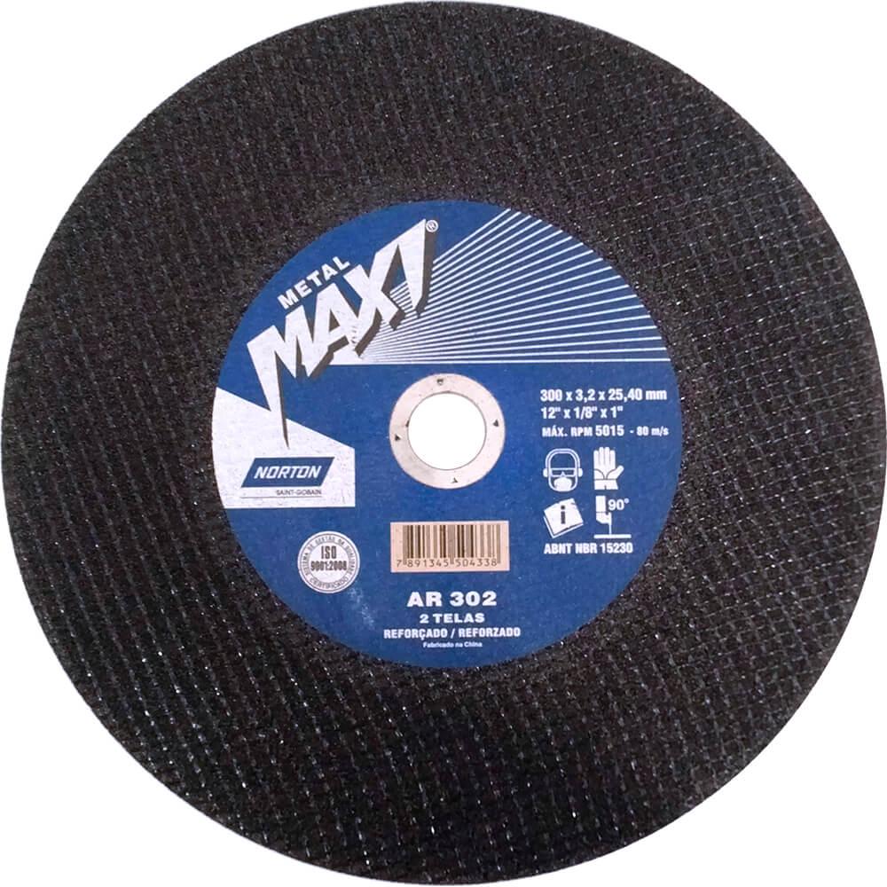 Disco de Corte Aço Norton Metal Maxi AR 302 10 x 1/8 x 1