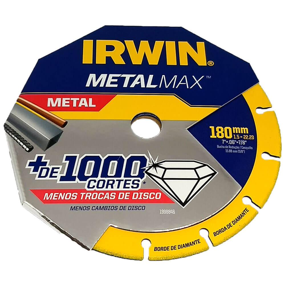 """Disco de Corte Diamantado MetalMax 7"""" Irwin"""