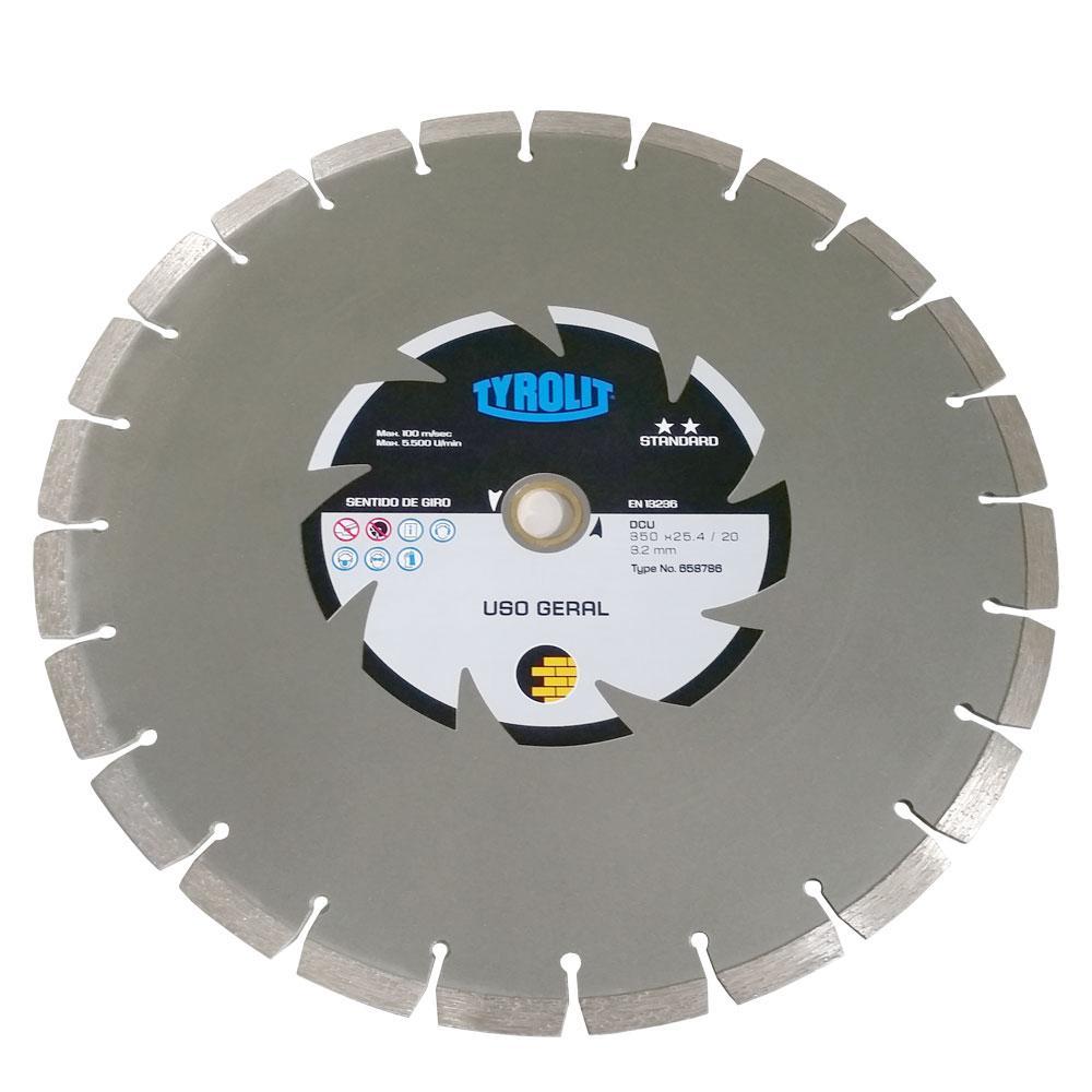 Disco de Corte Diamantado Uso Geral Tyrolit Standard 350 x 25,4