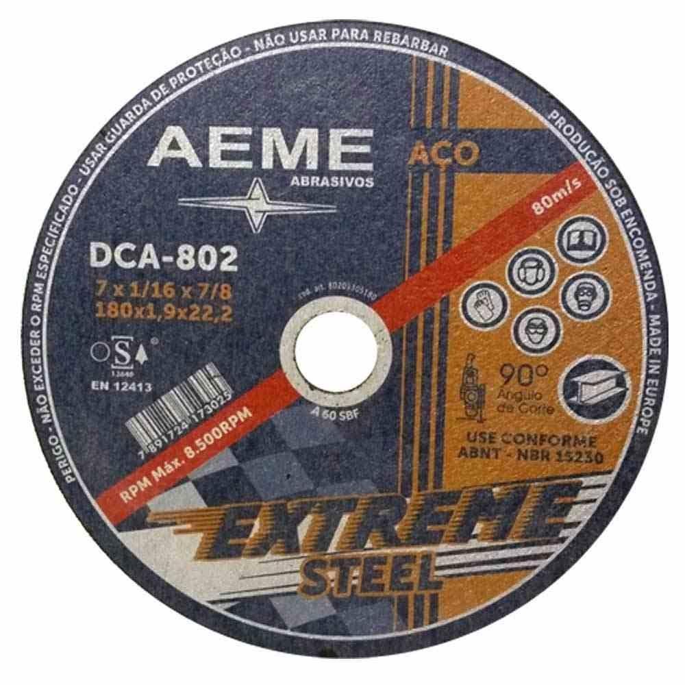 """Disco de Corte Fino Aço Extreme Aeme DCA 802 9"""" x 2,0mm"""