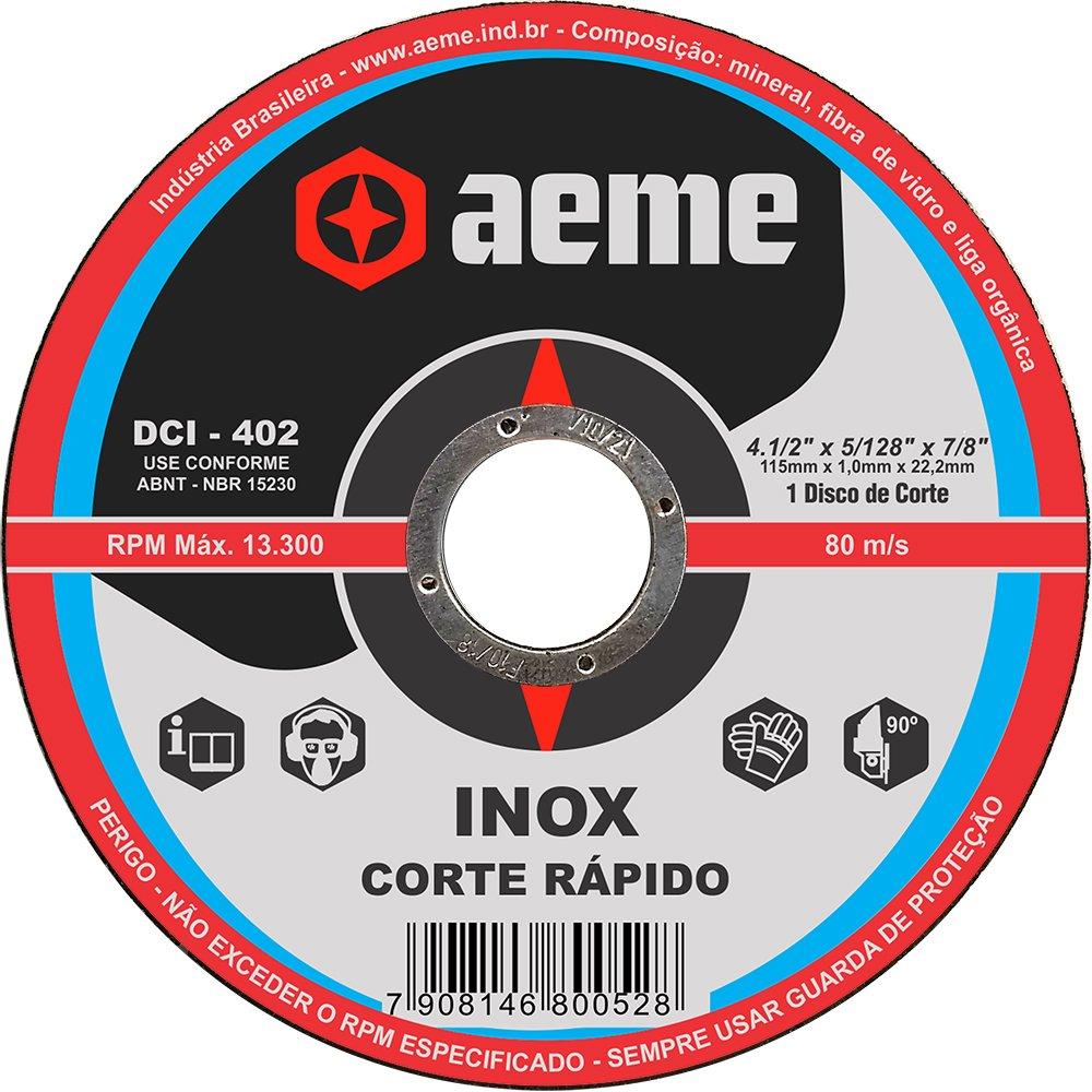 Disco de Corte Fino Aeme DCI 402 4.1/2 x 1.0 x 7/8