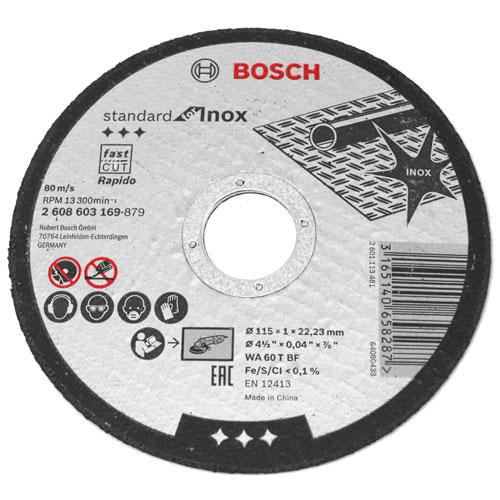 "Disco de Corte Fino para Inox Bosch Standard 4.1/2"" x 1,0mm"