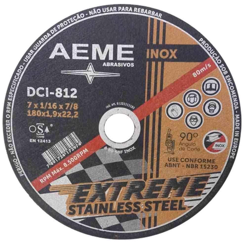 "Disco de Corte Fino para Inox Extreme Aeme DCI 812 7"" x 1,6mm"