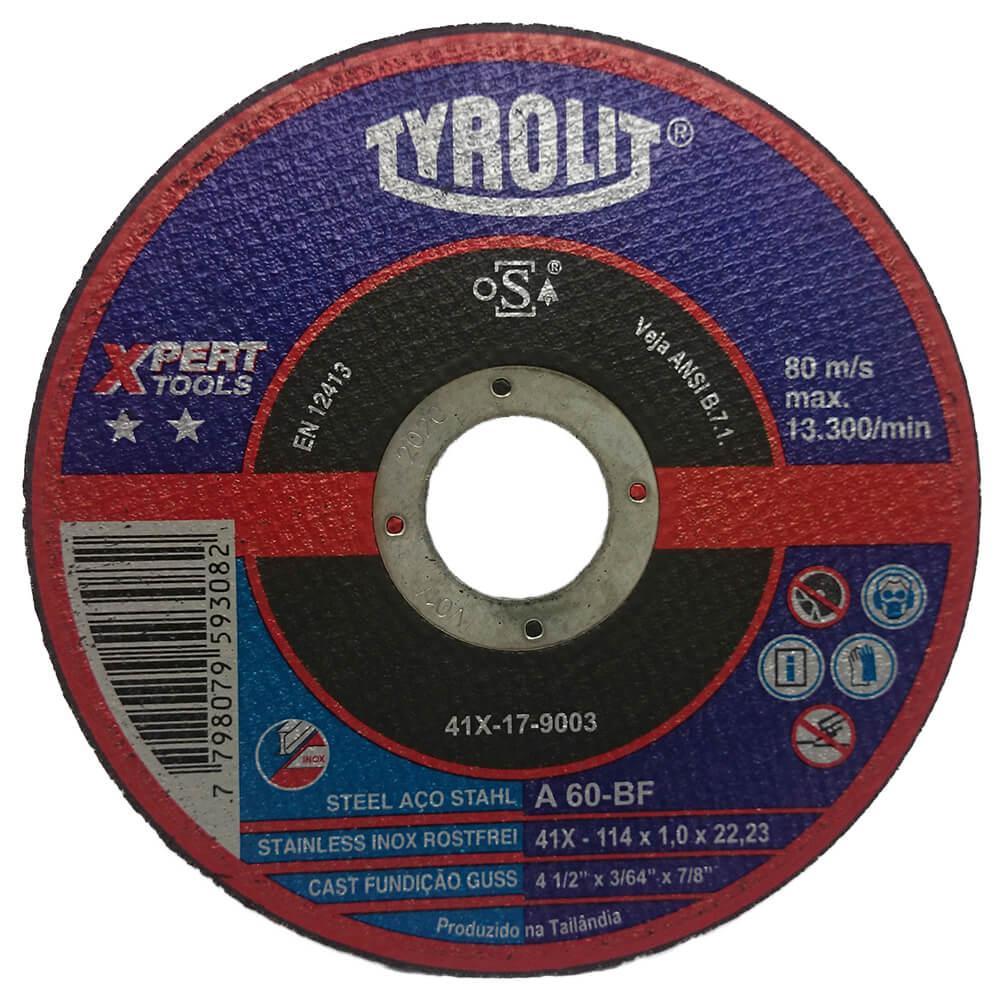 Disco de Corte Fino para Inox Tyrolit Xpert 4.1/2 Pol x 1,0mm