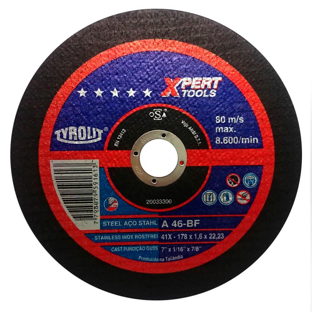 """Disco de Corte Fino para Inox Tyrolit Xpert 7"""" x 1,6mm"""