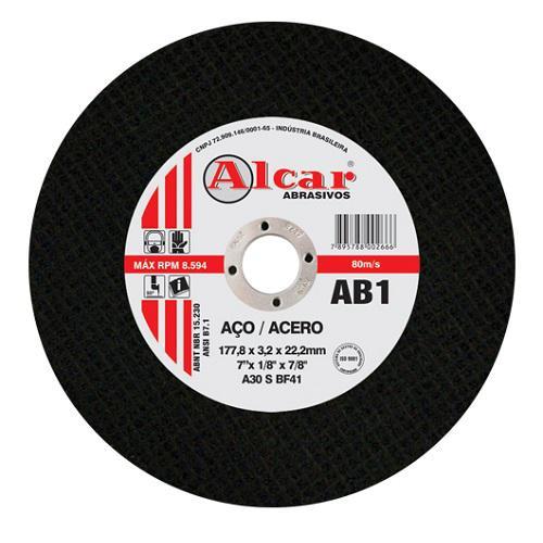 Disco de Corte para Aço Alcar 1T AB1 12 x 1/8 x 3/4