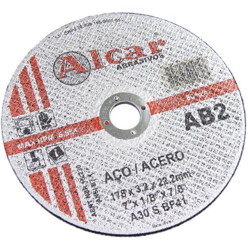 Disco de Corte para Aço Alcar 2T AB2 12 x 1/8 x 5/8