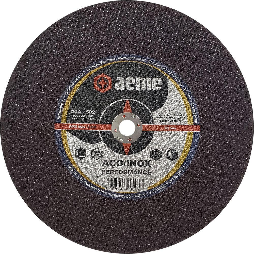 Disco de Corte para Aço / Inox Aeme DCA 502 12 x 1/8 x 3/4