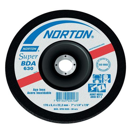 "Disco de Desbaste Norton BDA630 Clean 9"" x 1/4"" x 7/8"""