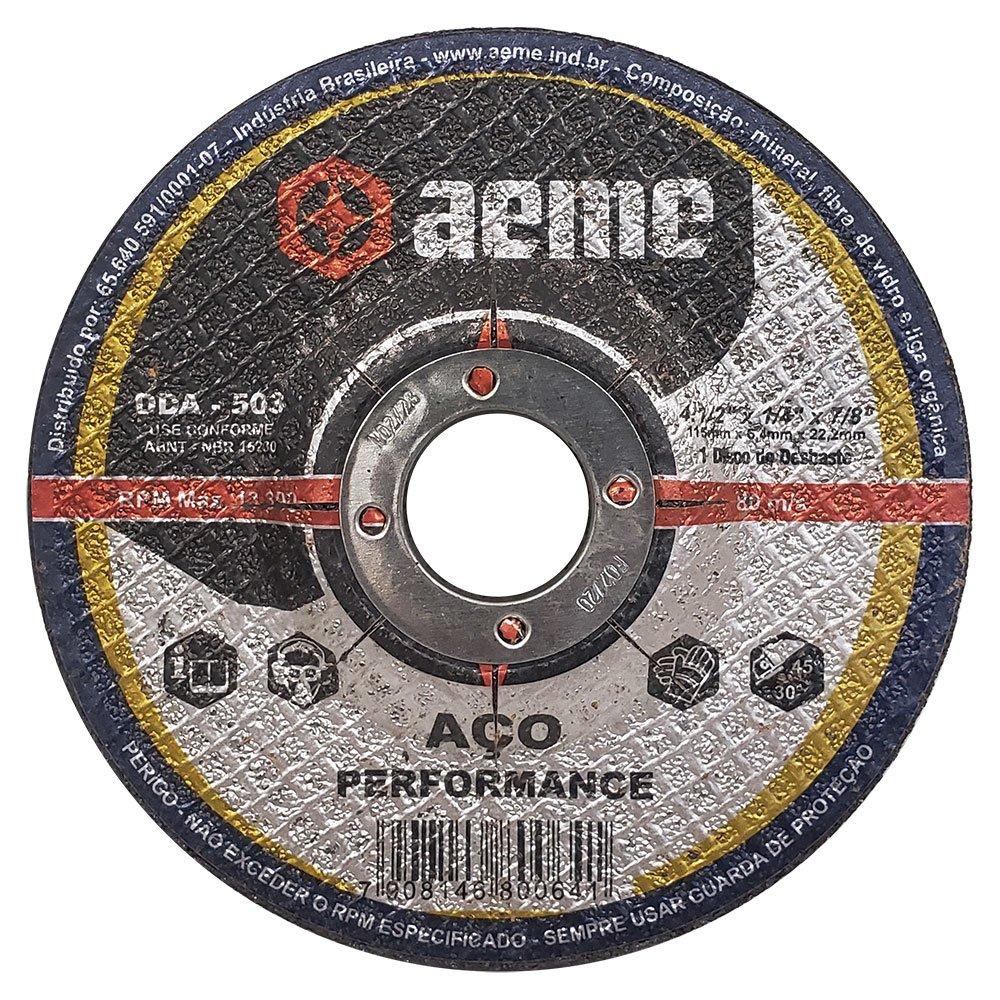 Disco de Desbaste para Aço Aeme DDA 503 4.1/2 x 1/4 x 7/8