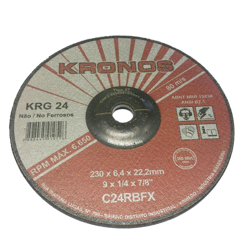 """Disco de Desbaste Refratário Kronos KRG 24 9"""" x 1/4"""" x 7/8"""""""