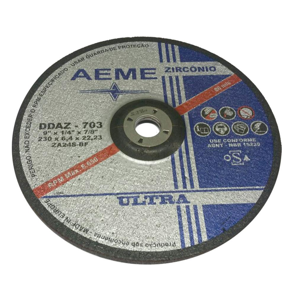 "Disco de Desbaste Zirconado Ultra AEME DDAZ-703 7"" x 1/4"" x 7/8"""