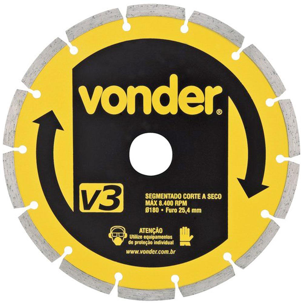 Disco Diamantado 180mm Segmentado V3 Vonder