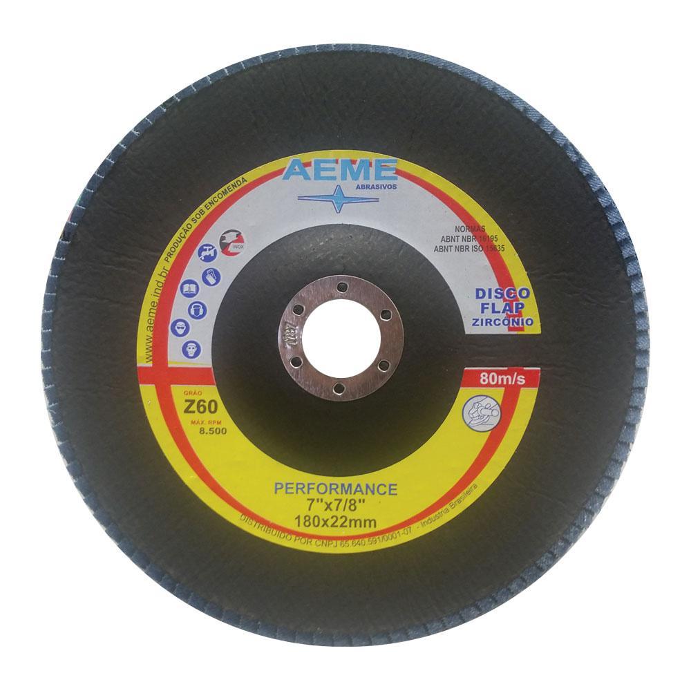 """Disco Flap 4.1/2"""" Aeme Costado Fibra Angular Grão 40"""