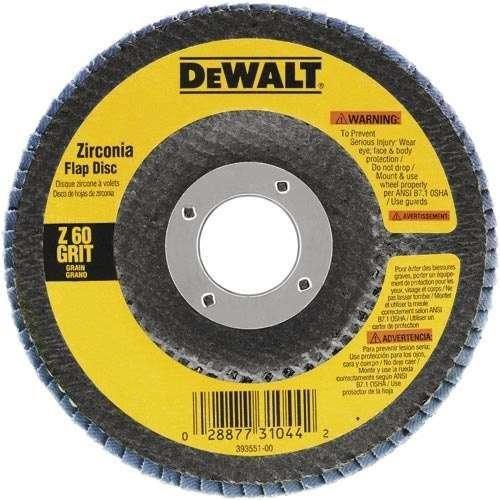 "Disco Flap 4.1/2"" Dewalt Costado Fibra Angular DW8307 G120"