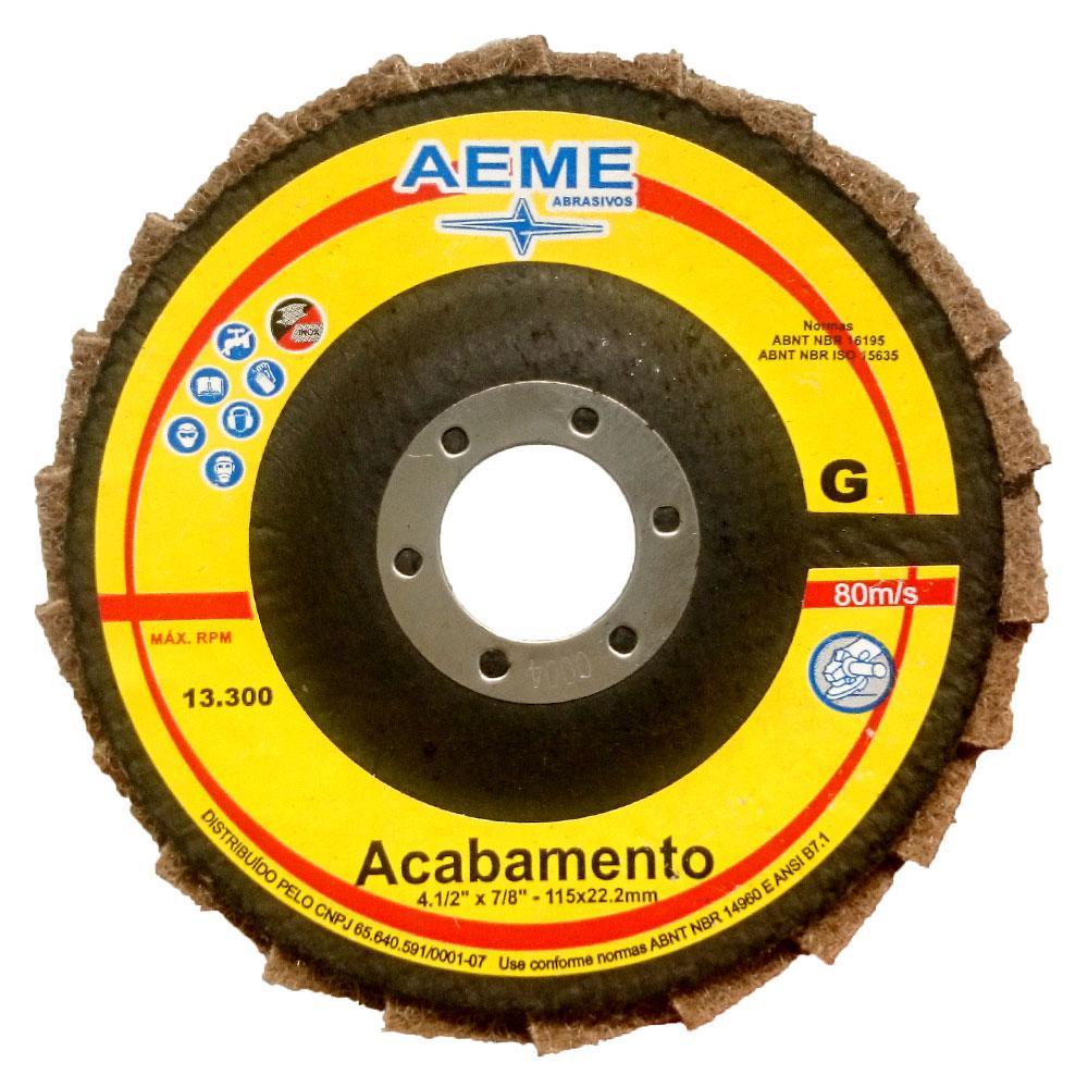 Disco Flap Acabamento 4.1/2 FVC Grosso Aeme