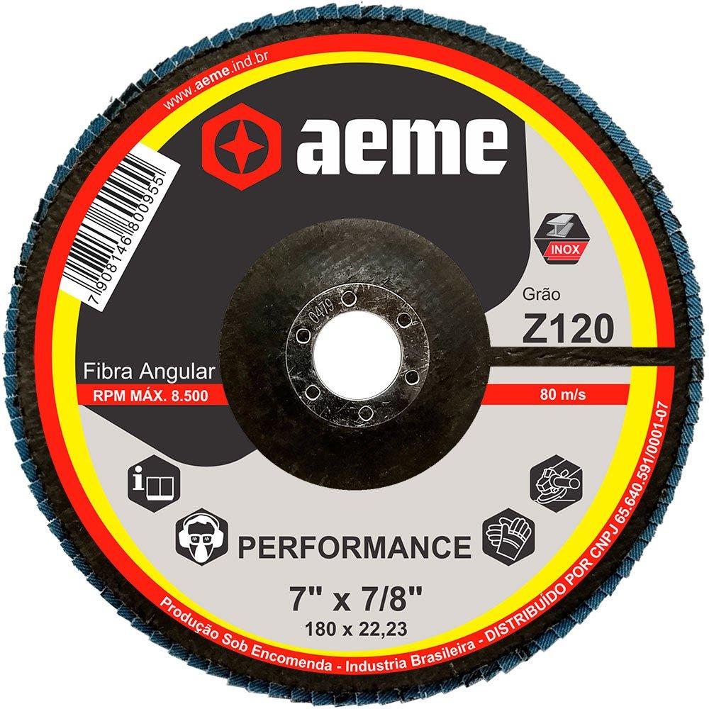 Disco Flap Performance 7 Pol Aeme Costado Fibra Angular G120