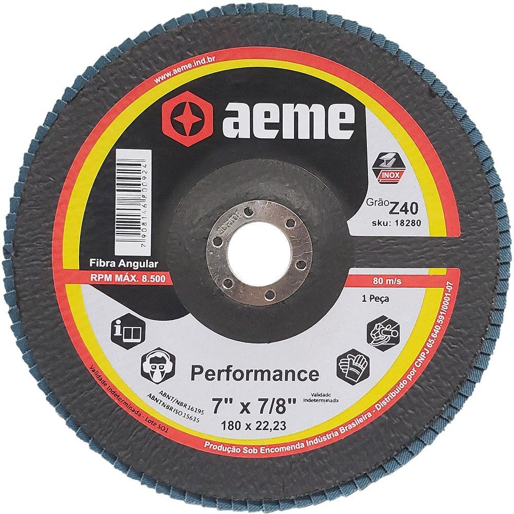 Disco Flap Performance 7 Pol Aeme Costado Fibra Angular G40