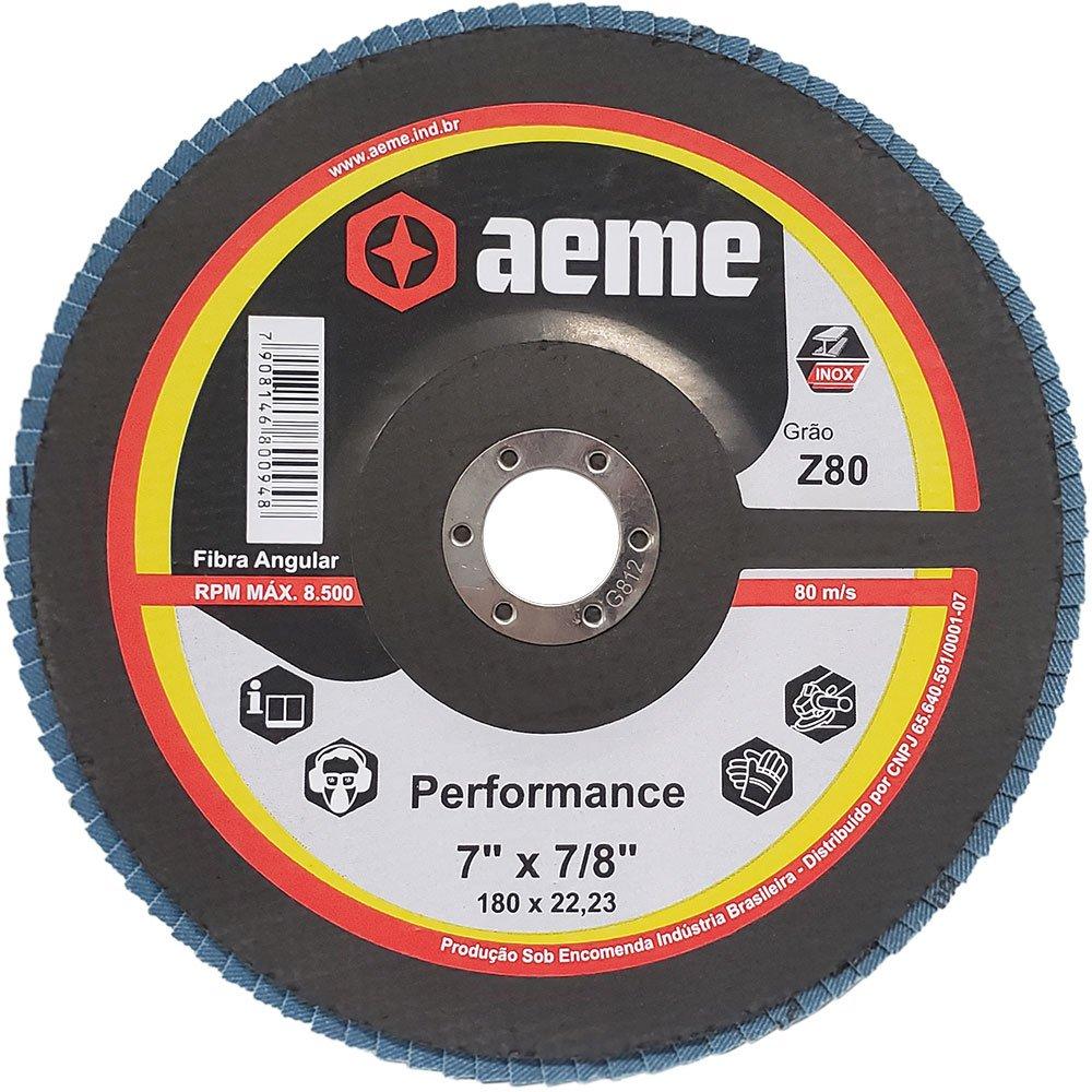Disco Flap Performance 7 Pol Aeme Costado Fibra Angular G80