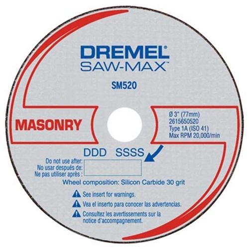 Disco SAW MAX Alvenaria Dremel C/ 3 Peças DSM520