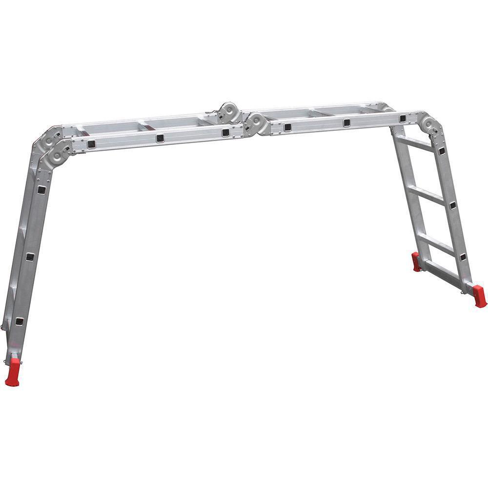 Escada Articulada em Alumínio 4x3 12 Degraus Botafogo