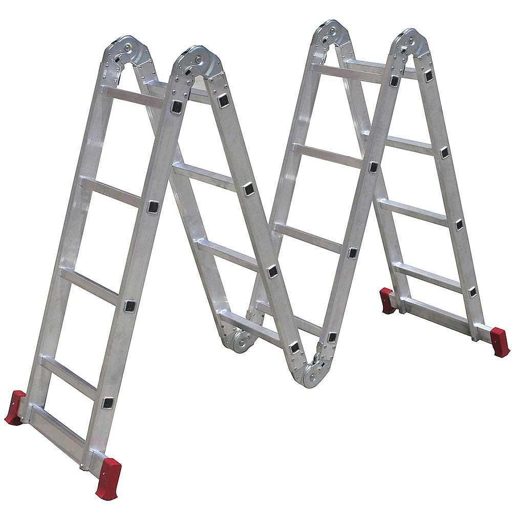 Escada Articulada em Alumínio 4x4 16 Degraus Botafogo