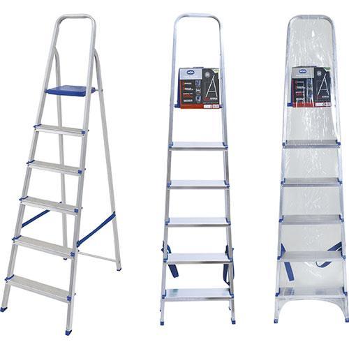 Escada de Alumínio 6 Degraus Mor Uso Doméstico