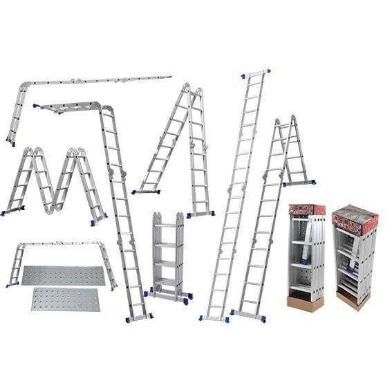 Escada Multifuncional 4 x 4 com Plataforma Mor 16 Degraus