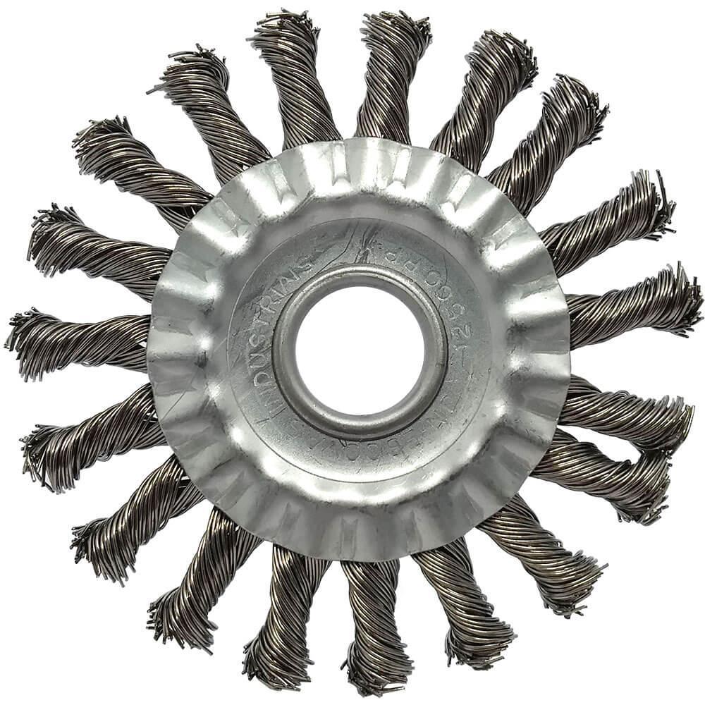 """Escova de Aço Carbono JN Trançada 4.1/2"""" x 1/2"""" x 7/8"""