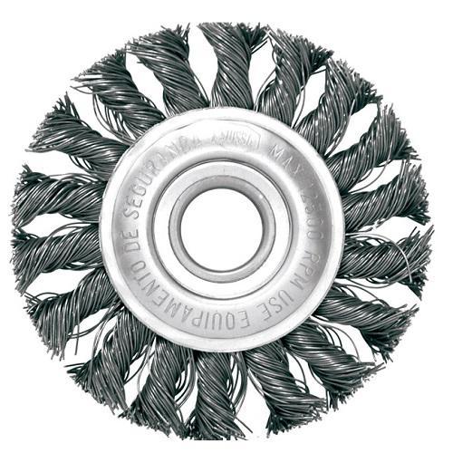 Escova de Aço Circular Inebras Trançada 10x1.1/2x1.1/4